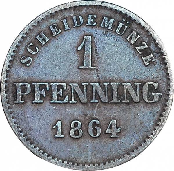 1 Pfennig Bayern König Maximilian II. 1858 - 1864