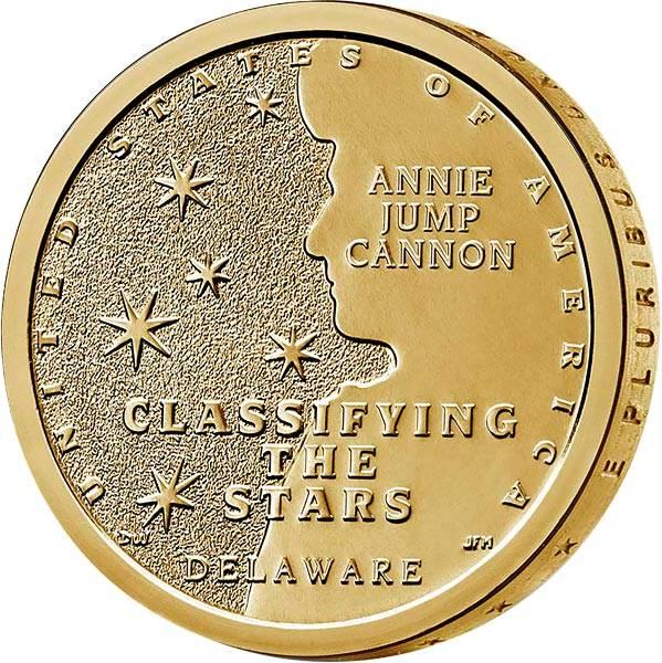 1 Dollar USA American Innovation - Klassifizierung der Sterne Delaware 2019