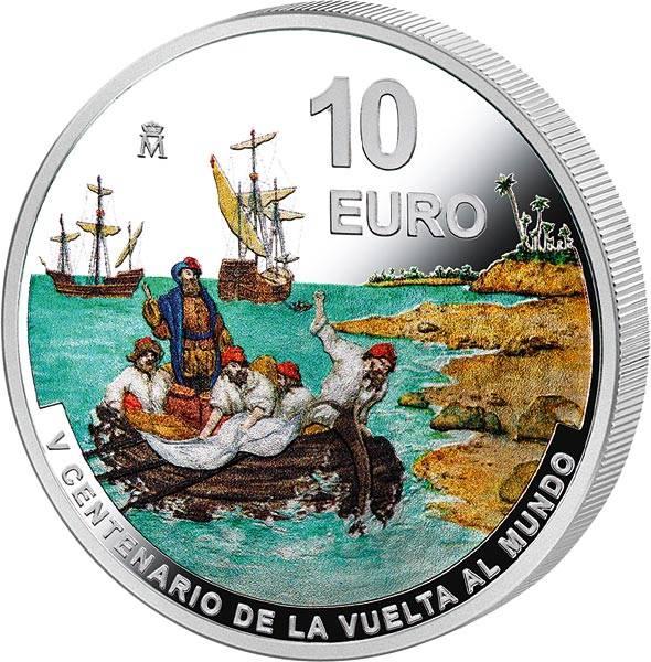 10 Euro Spanien 500 Jahre Erste Weltumsegelung Magellanstraße 2021
