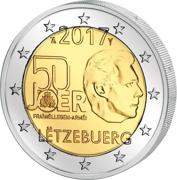 2 Euro Luxemburg 50 Jahre freiwilliger Wehrdienst von Luxemburg 2017