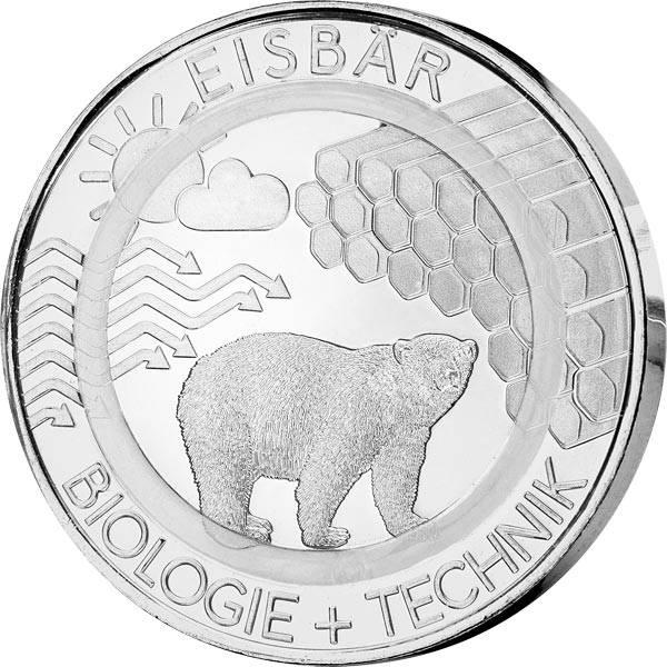 Gedenkprägung Eisbär