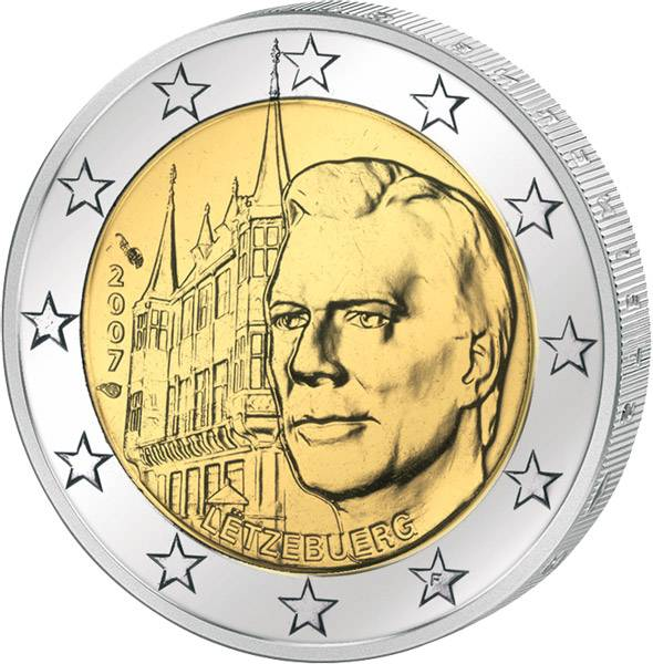 2 Euro Luxemburg Großherzogliches Palais 2007 prägefrisch