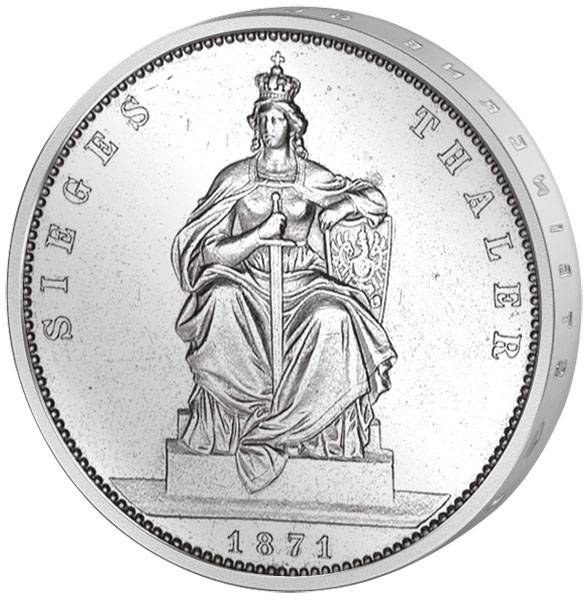 Vereinstaler Silber Siegestaler Wilhelm I. 1871 Sehr schön