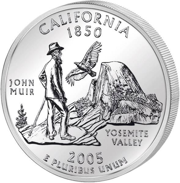 Quarter Dollar USA Kalifornien 2005