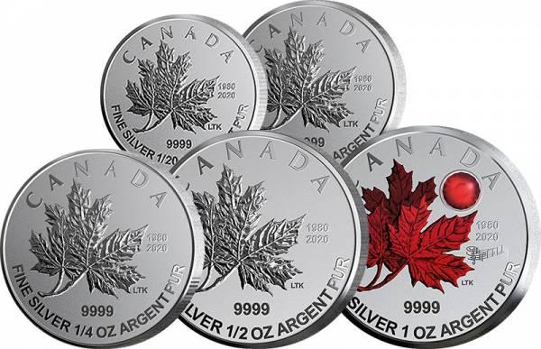 1 Dollar - 5 Dollars Kanada Silber Maple Leaf Premium Set 2020