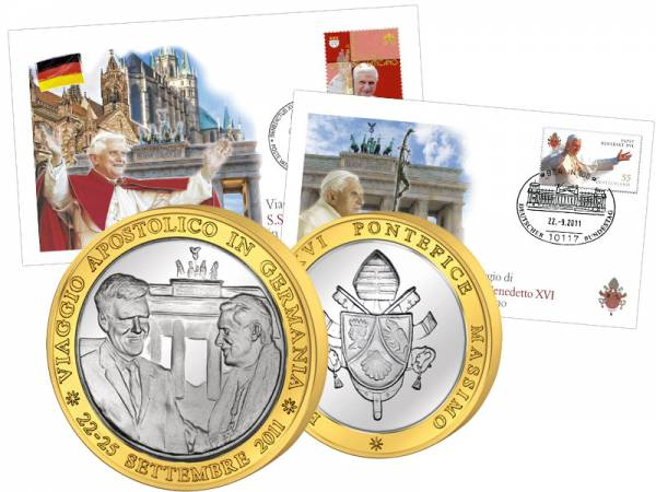 Gedenkset Papst Benedikt Deutschlandreise 2011