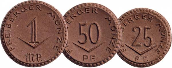 25 Pfennig - 1 Mark Freiberg Sachsen 1921