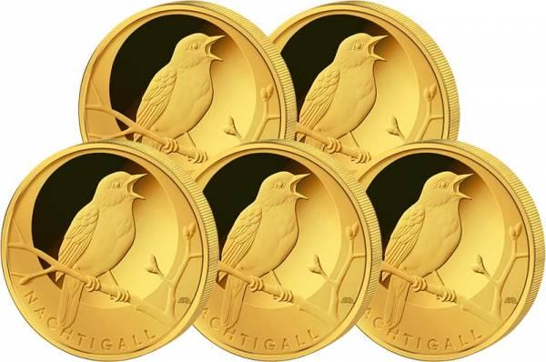 20 Euro BRD Heimische Vögel Nachtigall 2016 A-J