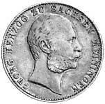 Taler Vereinstaler Georg II. 1867 Sehr schön
