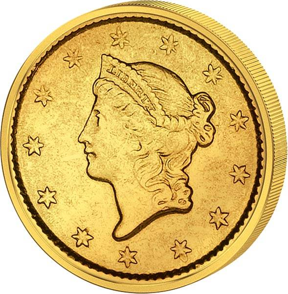 1 Dollar USA Liberty-Kopf 1849-1854