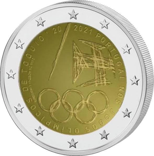 2 Euro Portugal Teilnahme an den olympischen Spielen 2021