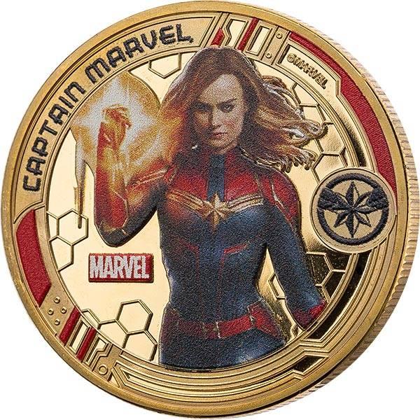 Gedenkprägung Captain Marvel