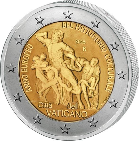 2 Euro Vatikan Jahr des Kulturerbes 2018