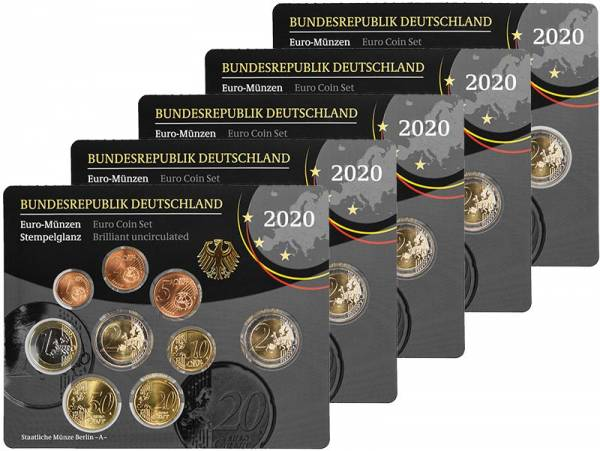 Euro-Kursmünzensätze BRD 2020 Stempelglanz