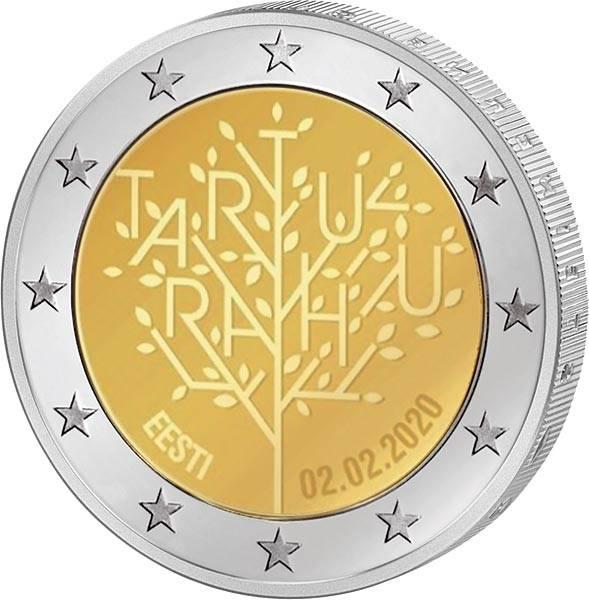 2 Euro Estland 100 Jahre Frieden von Tartu 2020