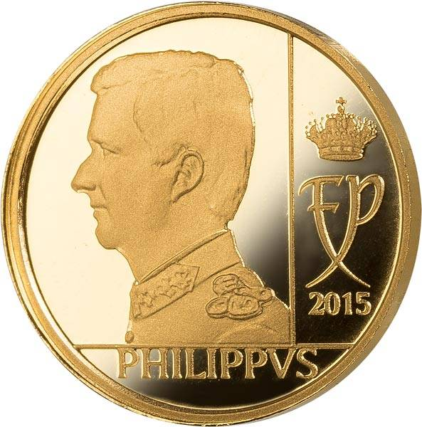 12,5 Euro Belgien König Philippe 2015