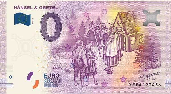 0-Euro-Banknote Hänsel und Gretel 2019