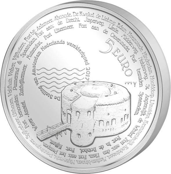 5 Euro Niederlande Stellung von Amsterdam 2017