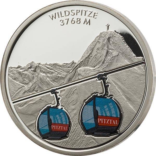 Gedenkprägung Österreichs schöne Bergwelt Wildspitze