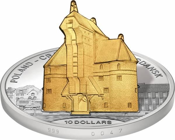 10 Dollars Cook-Inseln Polen - Kranentor in Danzig 2016