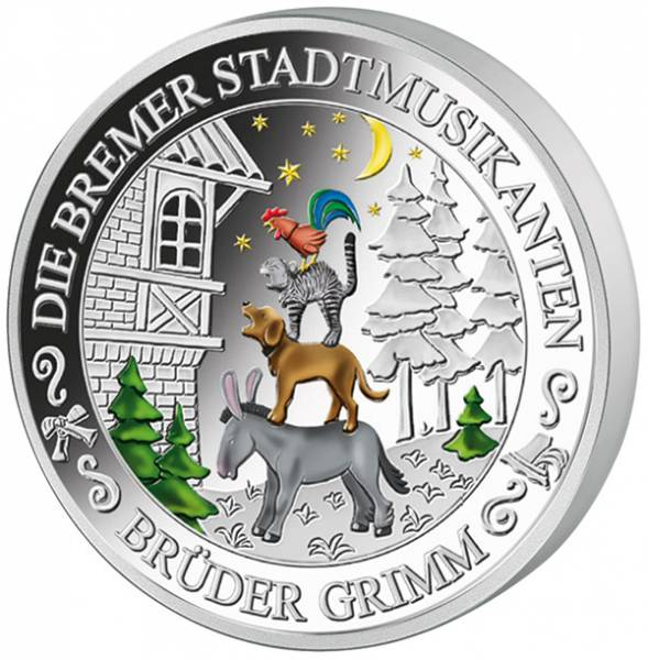 Gedenkprägung Bremer Stadtmusikanten