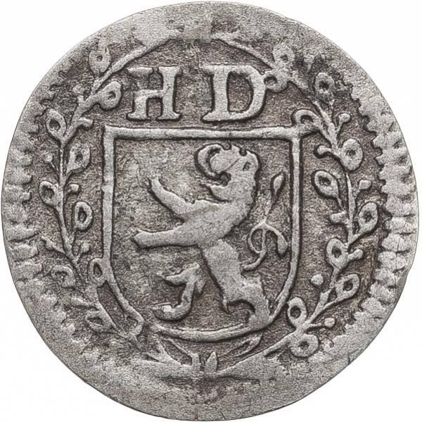 1 Kreuzer Hessen-Darmstadt Landgraf Ernst-Ludwig 1720-1733