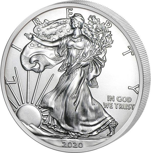 1 Unze Silber USA American Eagle 2020