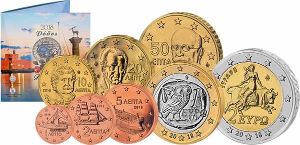 Euro-Kursmünzensatz Griechenland Rhodos 2018