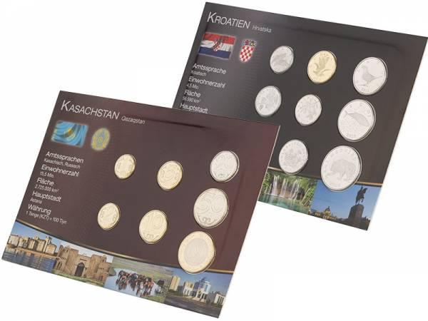 Premium-Kursmünzen-Set Kasachstan und Kroatien