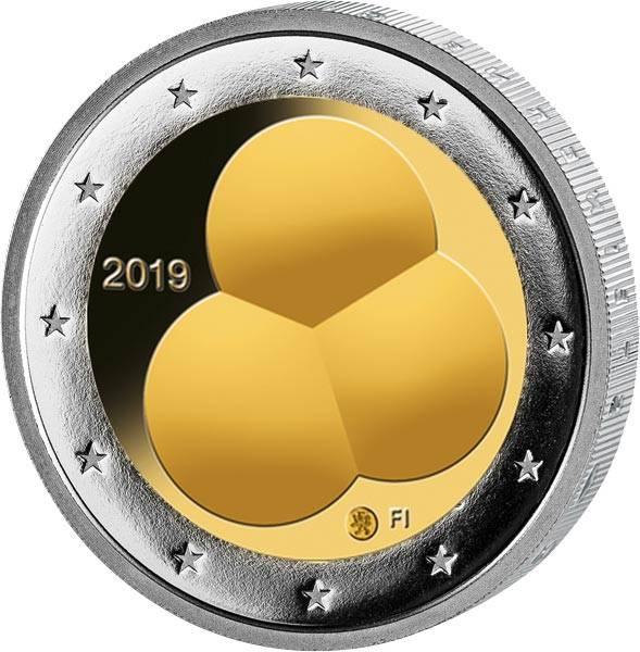 2 Euro Finnland 100 Jahre Finnische Verfassung 2019