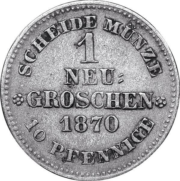 1 Neugroschen Sachsen König Johann
