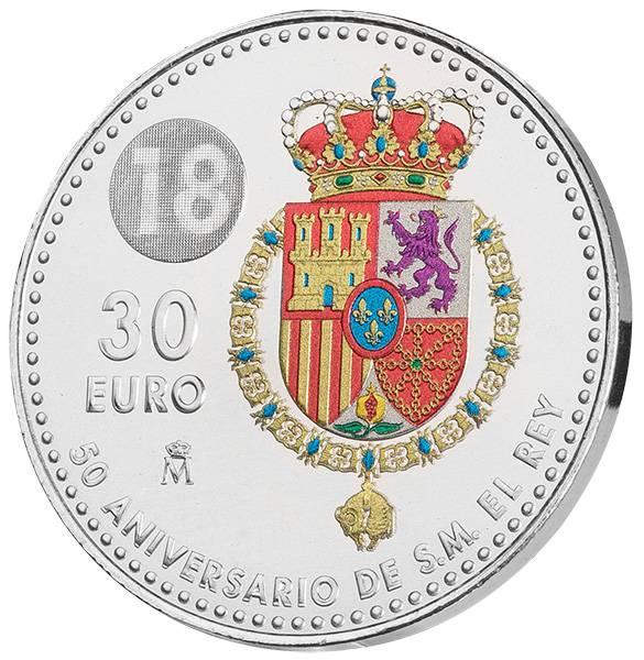30 Euro Spanien 50. Geburtstag von König Felipe VI. 2018