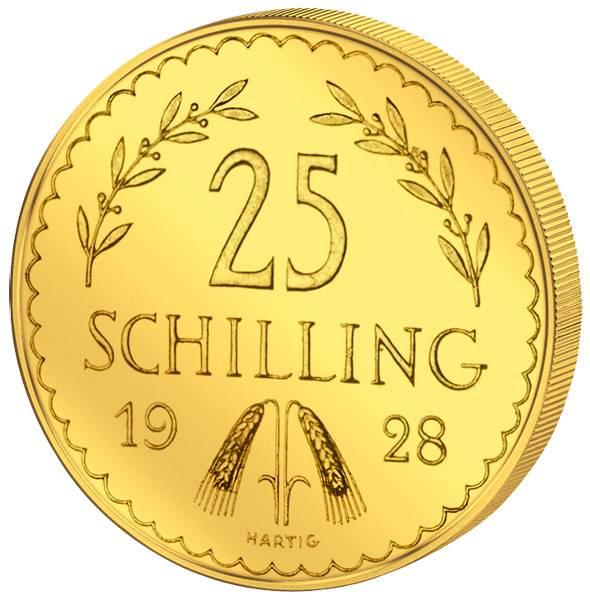25 Schilling Österreich Ähren und Adler 1926-1931 vz-st