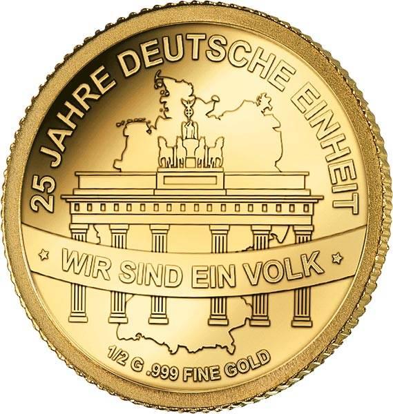3.000 Francs Tschad 25 Jahre Deutsche Einheit 2015