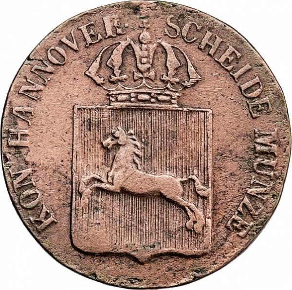 1 Pfennig Hannover König Wilhelm IV. 1835-1837