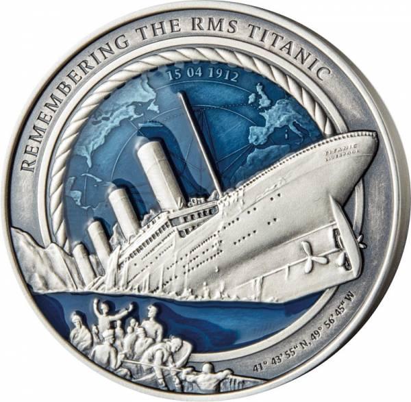 10 Dollars Salomonen 35. Jahrestag der Entdeckung des Titanik-Wracks 2021