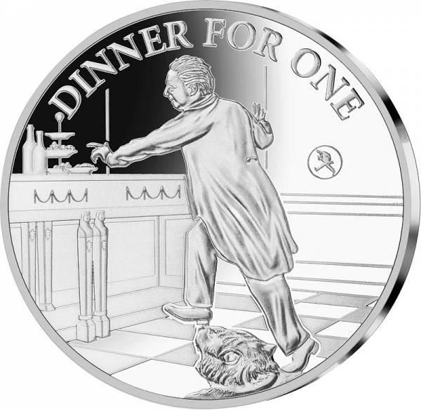 Gedenkprägung 90. Geburtstag Dinner for One
