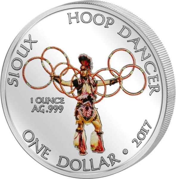 1 Dollar USA Sioux Hoop Dancer 2017