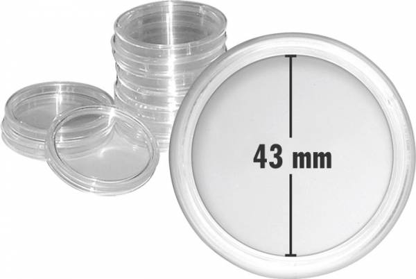 Münzkapsel Innendurchmesser 43 mm