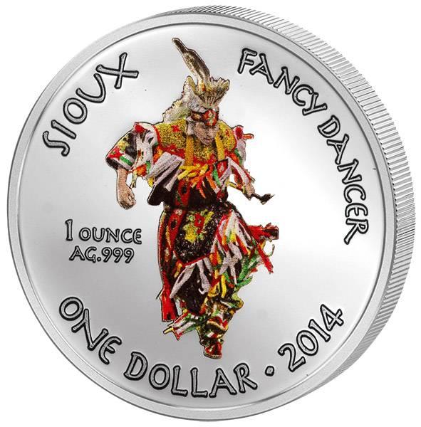 1 Dollar USA Sioux Fancy Dancer 2014