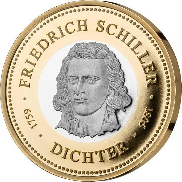Gedenkprägung Friedrich Schiller