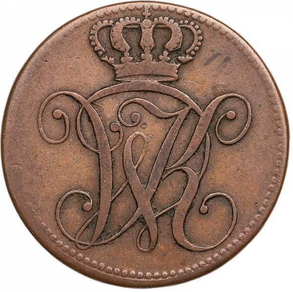 4 Heller Hessen-Kassel Kurfürst Wilhelm II. 1821 - 1828
