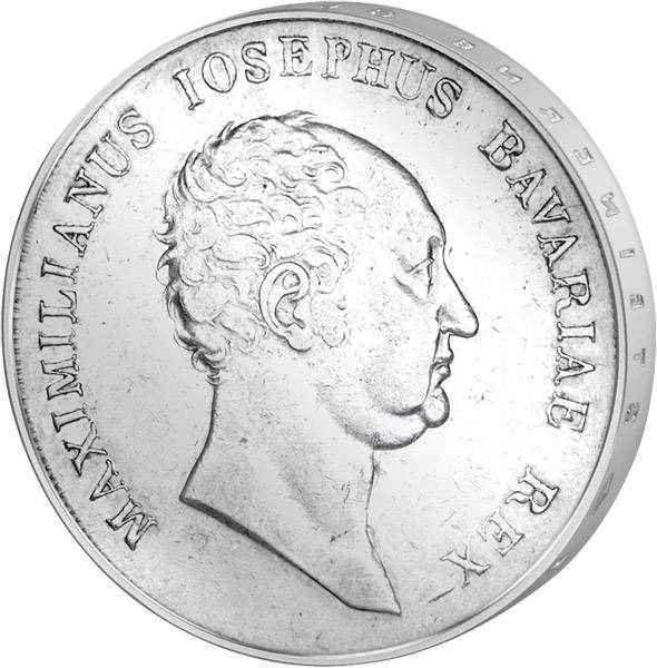 Taler Bayern Kronentaler Maximilian l. Joseph 1809-1825 sehr schön