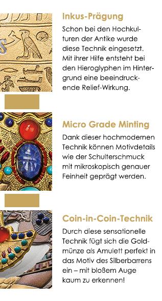 Inkus-Prägung - Micro Grade Minting - Coin-in-Coin-Technik