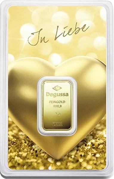 5 Gramm Goldbarren In Liebe