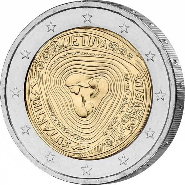 2 Euro Litauen Litauische Volkslieder Sutartines 2019
