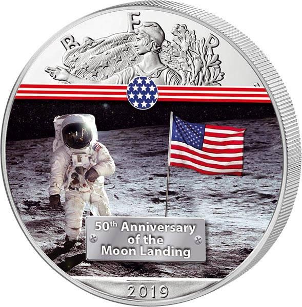 1 Dollar USA 50 Jahre Mondlandung erster Mann auf dem Mond 2019