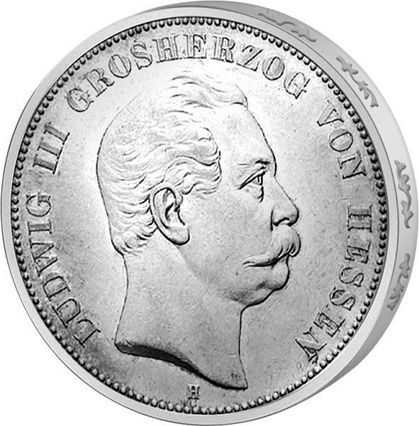 5 Mark Hessen Ludwig III. 1875-1876 Sehr schön