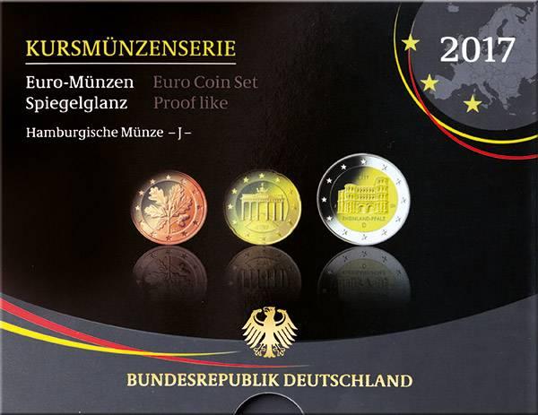 Euro-Kursmünzensatz BRD 2017
