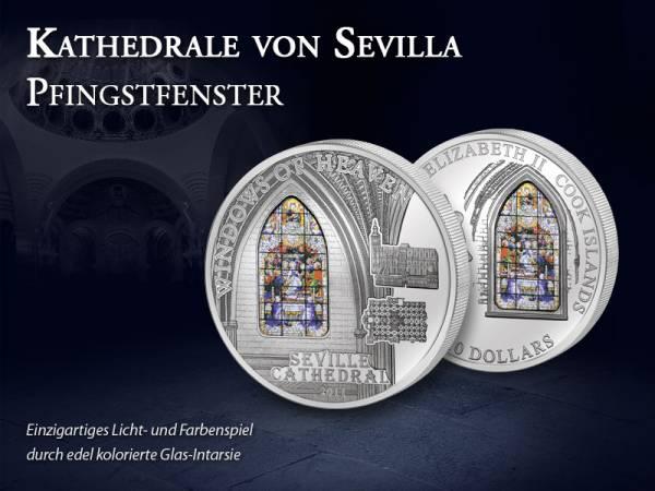 10 Dollars Cook-Inseln Kathedrale von Sevilla 2011 Prooflike
